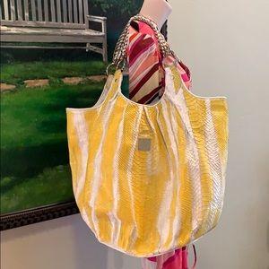 MCM Munchen Python Bag Refurbished